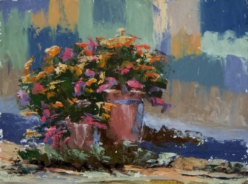Patron's Flowers 12x16 oil on canvas