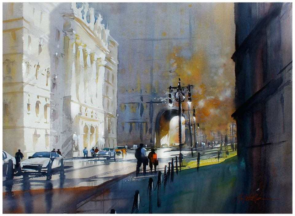 chambers street -nyc 22x30 inches