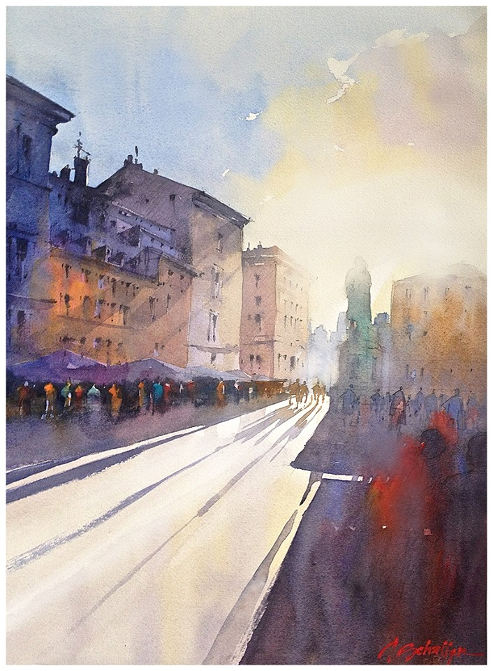 shadows and light 4 - rome 22x15