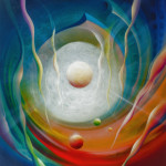 01. SPHERE F46 ( power ~ stanima ), oil on canvas, 100x90 cm, MMX, author Drazen Pavlovic, for sale - $ 5000, original with Certificate No. 52380